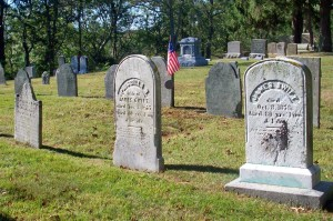Abigail, Priscilla B & James Swift Headstones