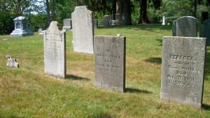 broken stone, Lucy, Moses, Jr & Rebecca Swift Headstones