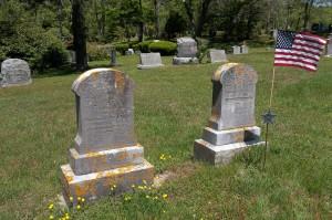 Emily F & Benjamin W Chase Headstones