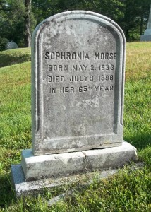 Sophronia Morse Headstone