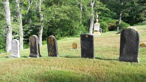 Capt Thomas Burgess family Headstones ( Sophronia's Headstone on far left)