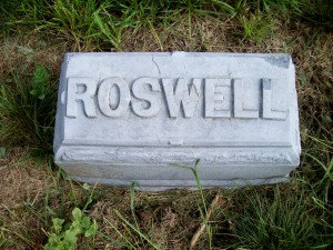 Roswell Handy Headstone