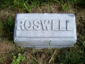 Roswell Handy Headstone