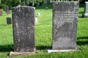 Mary S Redding & Charles Howard Headstones