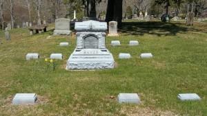 Capt Hiram Baker family Headstones