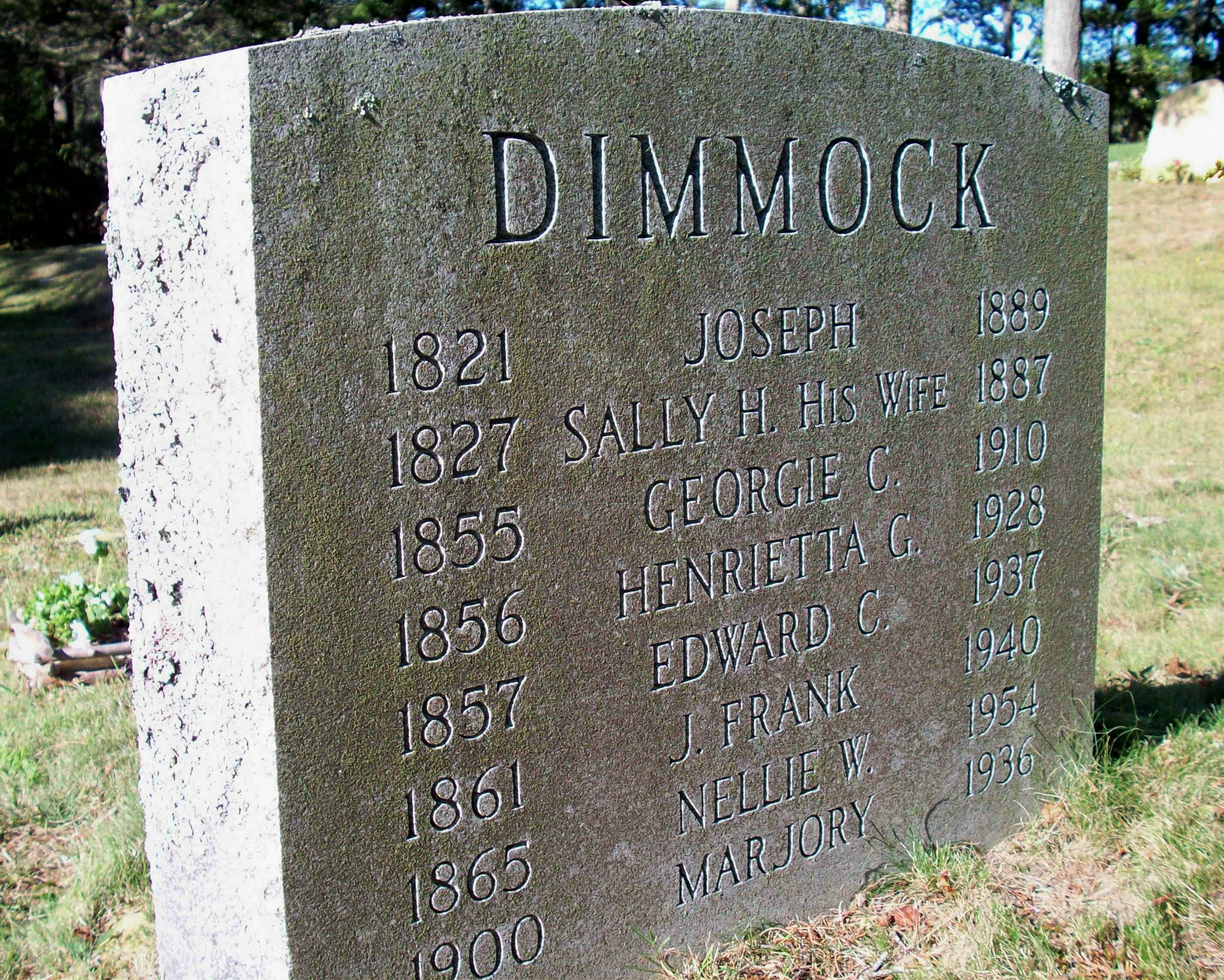 Edward Covell Dimmock 1857 1937 Cataumetcemeteryorg