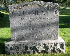 Capt W Henry Clement family Headstone