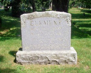 Clement Family Headstone