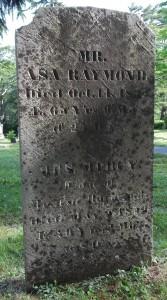 Asa & Mercy Raymond Headstone
