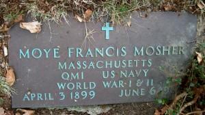 Moye Francis Mosher Headstone