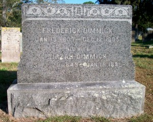 Frederick & Tirzah Dimmick Headstone