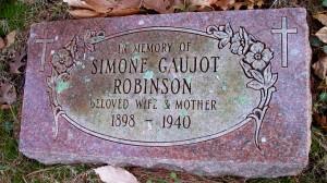 Simone Gaujot Robinson Headstone (area H)