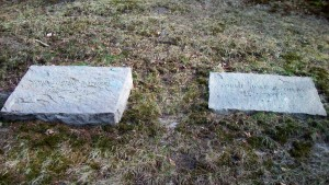 John Loring & Louise Just Rothery Headstones