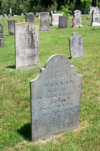 Hannah Swift Headstone (Alvan & Heman T Swift Headstones in back)