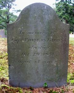 Capt Phineas Gibbs Headstone